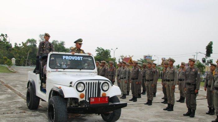 Fokus Pengamanan Pemilu 17 April, Bupati Pelalawan HM Harris Hadiri HUT Satpol PP, Damkar dan Linmas