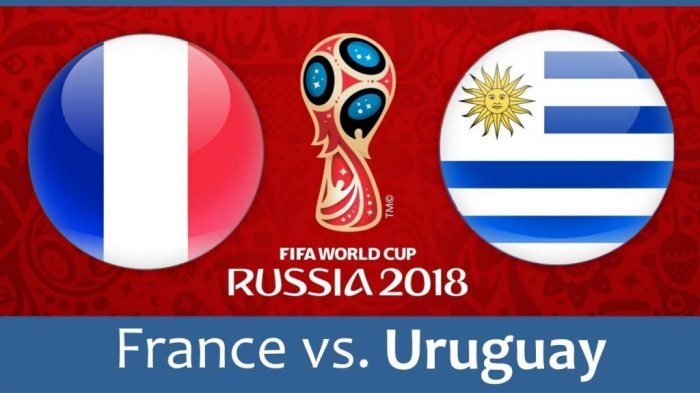 Jadwal Piala Dunia 2018 Uruguay Vs Prancis Pukul 21.00 WIB, Live di Trans Tv dan Trans 7