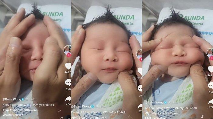 Usia Baru 1 Hari, Anak Kedua Baim Wong Sudah Jadi Konten, Netizen Kasihan Lihat Wajah Bayi Dipencet
