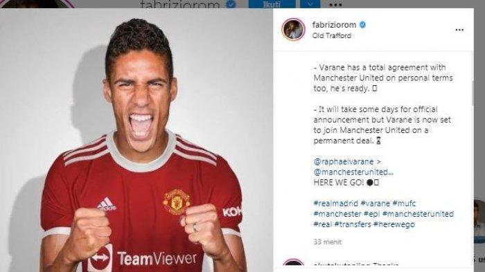 BREAKING NEWS: Tinggalkan Real Madrid, Varane Bergabung dengan Manchester United