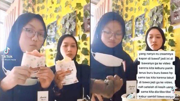 Video dua remaja sedang membuat konten di TikTok, lalu tiba- tiba didatangi Orang dengan Gangguan Jiwa (ODGJ).