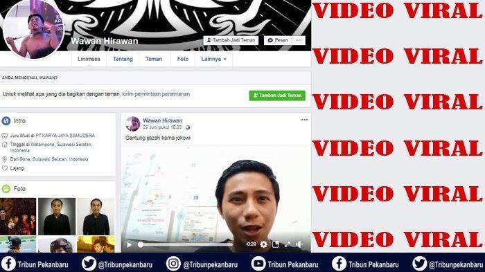 VIDEO VIRAL di Facebook Pemuda Bone Sulsel Gantung Ijazah karena Jokowi, Masih CEBONG VS KAMPRET
