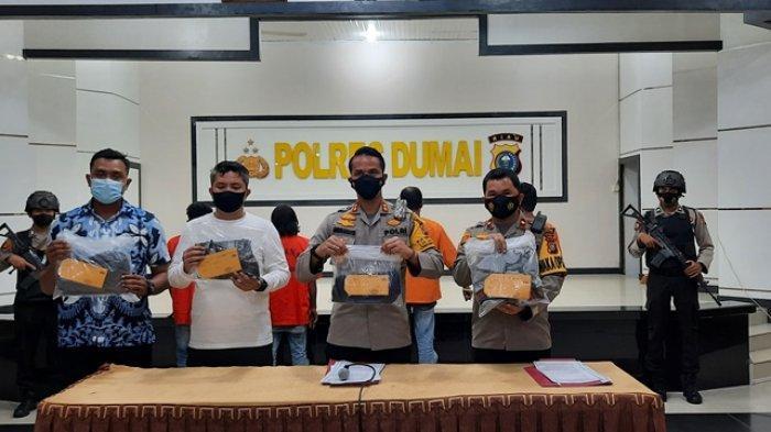 Vidio Aksi Premanisme Viral di Medsos, 4 Preman di Dumai yang Sering Peras Sopir Truk Ditangkap