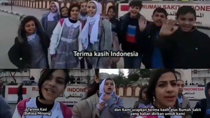 Viral Video Anak-anak Palestina Ucapkan Terima Kasih dengan Bahasa Aceh, Minang hingga Bahasa Papua