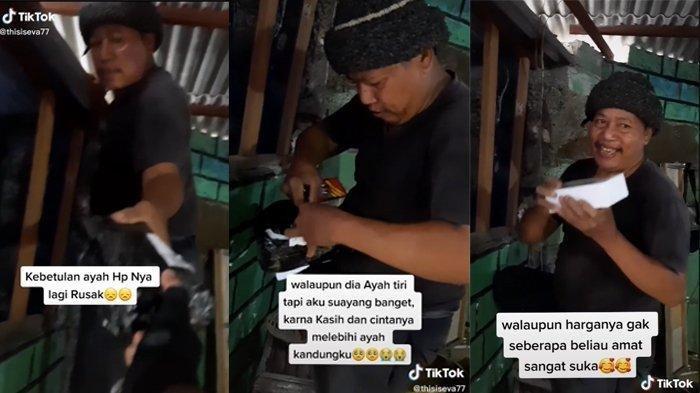 Anak Tiri Rela Menabung Dua Bulan untuk Membuat Ayah Sambungnya Bahagia, Videonya Viral