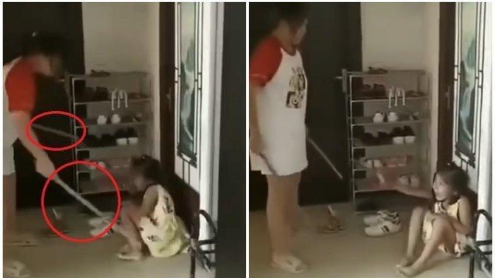 VIRAL Video Ibu Pukul Anak dengan Tongkat, Ayah Justru Suruh Pukul Sambil Merekam