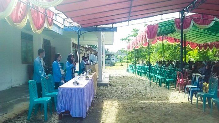 Wabah Corona Melanda, Tim Kukerta Relawan Covid-19 UNRI Sosialisasi New Normal kepada Warga