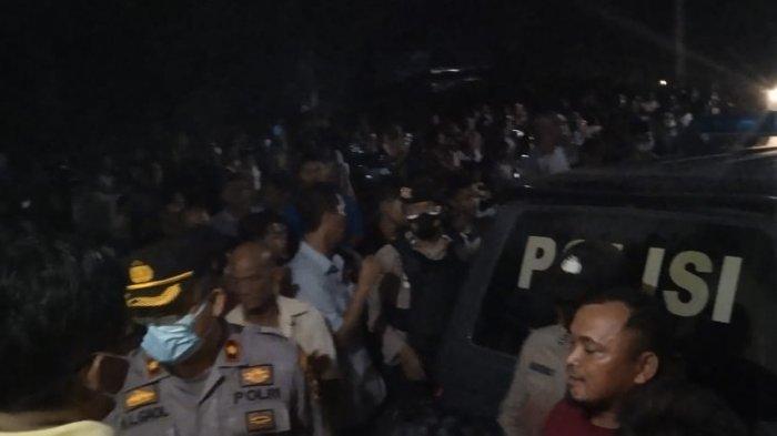 Residivis Curanmor Bonyok Diamuk Massa, Untung Datang Bantuan dari Polres Kuansing, Kalau Tidak. . .