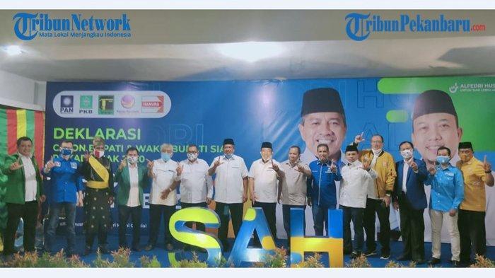 Wakil Gubernur Riau Deklarasikan Bapaslon Petahana pada Pilkada Siak 2020: Saya Telpon Gubernur Dulu