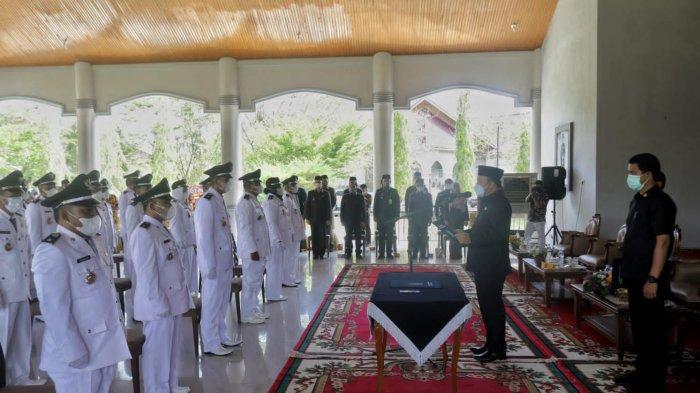 Wakil Bupati Siak Husni Lantik 37 Penjabat Penghulu Kampung, Sampaikan 6 Pesan