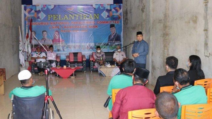 Wakil Bupati Siak Husni Merza Hadiri Pelantikan Pengurus NPC Kabupaten Siak