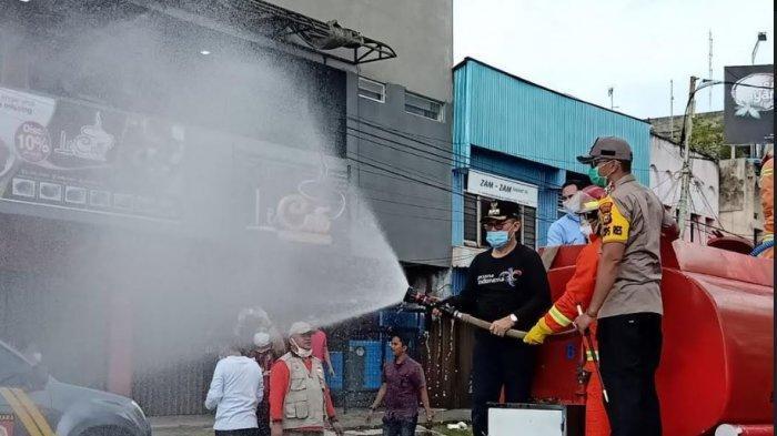 Jalanan di Kota Dumai Disemprotkan Disinfektan, Antispasi Penyebaran Virus Corona