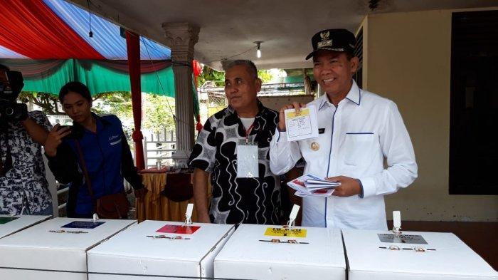 Prabowo-Sandi Unggul di TPS Tempat Wali Kota dan Wakil Wali Kota Pekanbaru Mencoblos