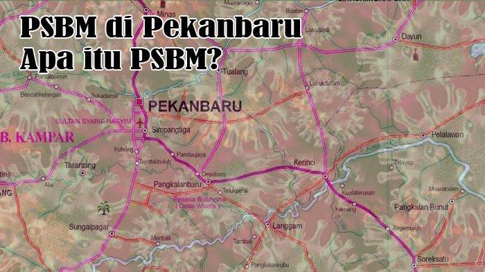 250 Personel Gabungan TNI Polri Awasi PSBM Kecamatan Tampan, Jalan HR Soebrantas dan SM Amin Disekat