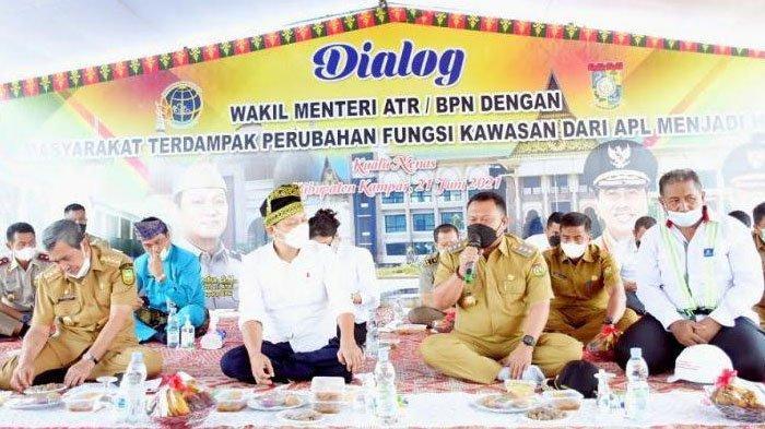 Ganti Rugi Lahan Warga untuk Tol Bangkinang-Pekanbaru Belum Tuntas, Wamen ATR/BPN Turun ke Kampar