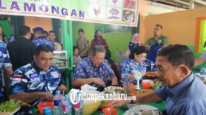 Usai Sapa Warga di CFD Jalan Sudirman, SBY Diagendakan ke Pasar Bawah Pekanbaru Pagi Ini