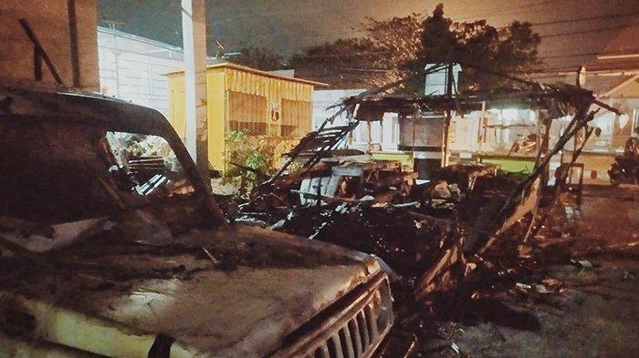 Satu Mobil Ikut Hangus Dalam Kebakaran Warung Kopi, Kerugian Ditaksir Rp 70 juta, Apa Penyebabnya?