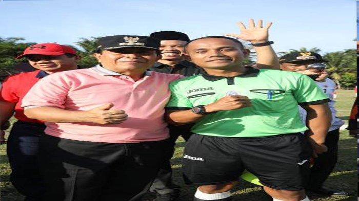 Kepala Jaya Putra Robek Bocor Dapat Jahitan, Suka Duka Wasit Idola Tarkam di Rohul Riau