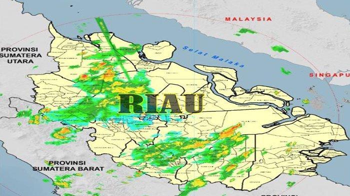 WASPADAI Hujan Deras Disertai Angin Kencang dan Petir di 7 Kabupaten di Riau