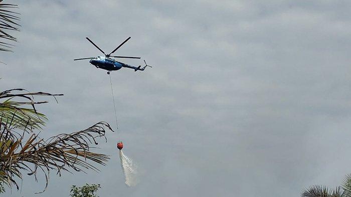 Karhutla di Desa Kelamantan Bengkalis Tak Kunjung Padam, Satgas Udara Ikut Diturunkan