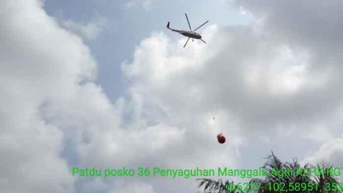 BPBD Riau Kerahkan Helikopter untuk Padamkan Karhutla di Desa Penyaguhan Inhu