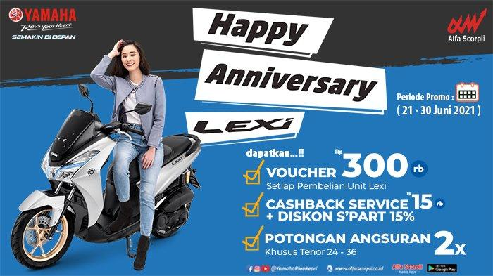 Ulang Tahun, Yamaha Lexi Bagi-bagi Banyak Voucher Diskon