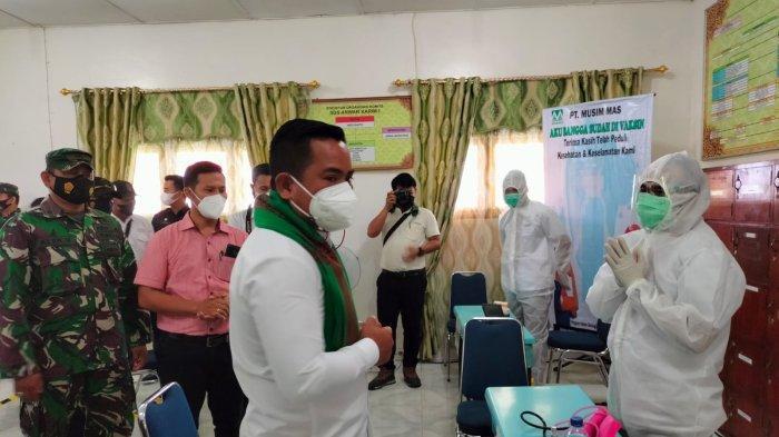 Bupati Apresiasi PT Musim Mas Siapkan 500 Dosis Vaksin Gotong Royong Bagi Karyawan dan Petani Binaan
