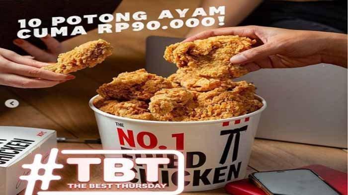 Hanya Hari Ini Promo KFC 10 Potong Ayam Goreng Cuma Rp90 Ribu dan 4 PTG Chicken Strip Rp29 Ribu