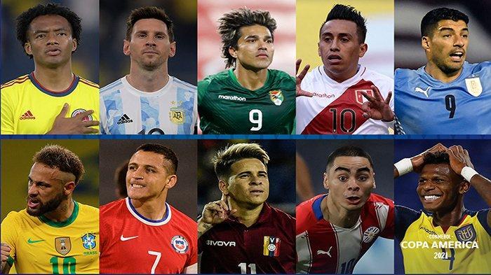 10 pemain andalan tiap tim peserta Copa Amerika 2021
