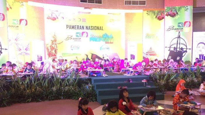 100 Peserta Ikuti Lomba Mewarnai di Borneo Properti Expo 2019