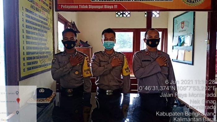 Personel Piket Jaga Polsek Monterado Siaga Jaga Mako dan Pelayanan Kepada Masyarakat