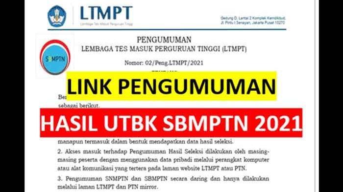 Cara Melihat Nilai SBMPTN 2021 Masukkan Nomor Peserta UTBK-SBMPTN di Link Mirror Perguruan Tinggi