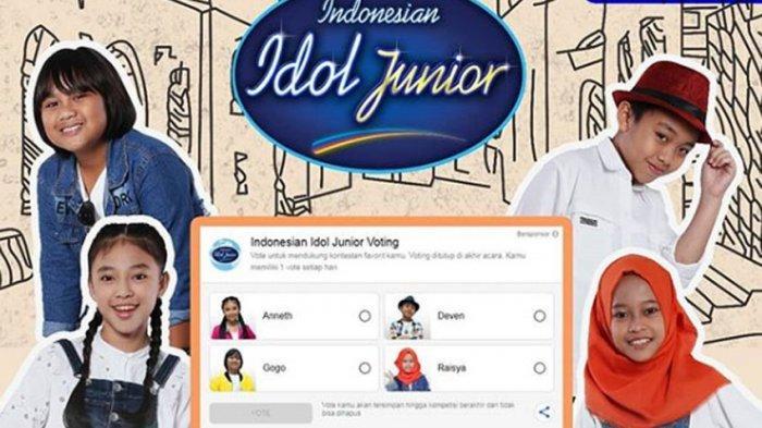 Indonesian Idol Junior Live RCTI Jumat 7 Desember Pukul 14.55, Tersisa 4 Junior, Siapa Kalah Voting?