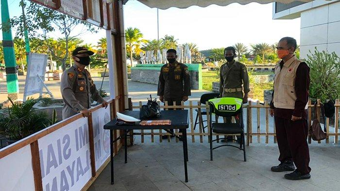 Kapolres Kayong Utara Cek Kesiapan Pos Pam Operasi Ketupat