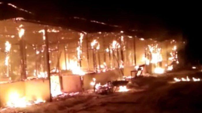 Lilin Tersenggol Kucing, Satu Camp PT SAM di Sintang Ludes Terbakar