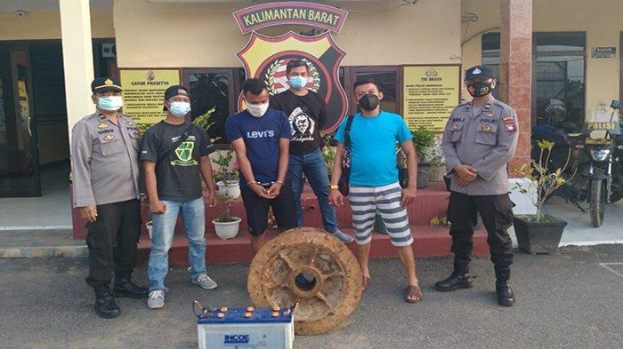 Hendak Kabur Menggunakan Pesawat, Pencuri Besi Kapal Diringkus Personel Polsek Siantan di Supadio