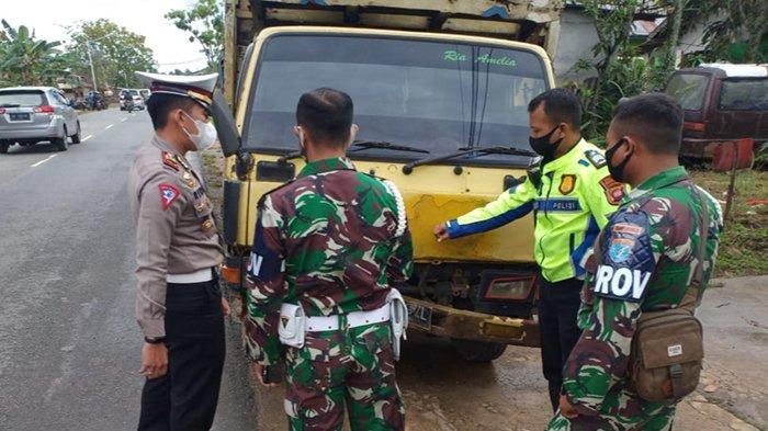Prajurit Yon Zipur 6/SD Anjongan Meninggal Dunia Akibat Laka Lantas di Jalan Raya Nusapati