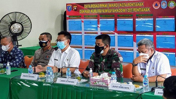 Kodim Pontianak Gelar Rapat Evaluasi PPKM Bersama Forkopimda Kota Pontianak dan Kubu Raya