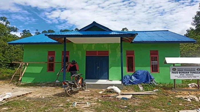 Siap Difungsikan, Pemerintah Desa Sekonau Bangun Gedung PAUD Gunakan Dana Desa Senilai Rp 135 Juta