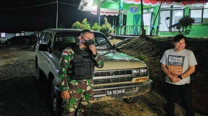 Satgas Pamtas dan Bea Cukai Gagalkan Penyelundupan Mobil Jeep LC Asal Malaysia Senilai Ratusan Juta