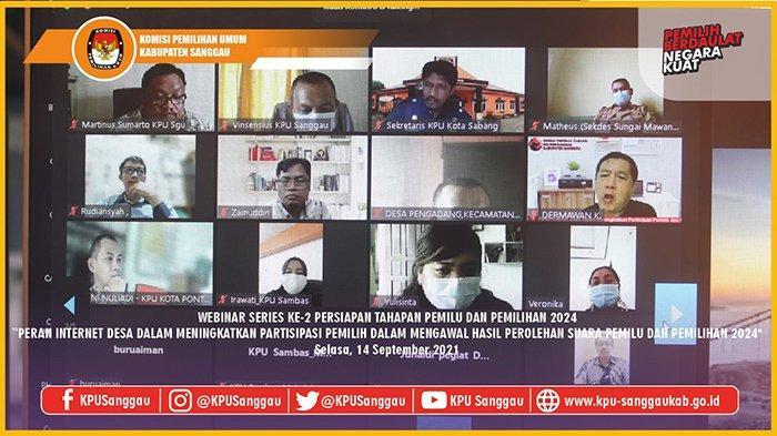 KPU Sanggau Gelar Webinar Terkait Peran Internet Desa