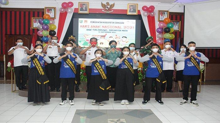Hadiri Peringatan Hari Anak Nasional Tahun 2021, Ini Pesan Bupati Sanggau