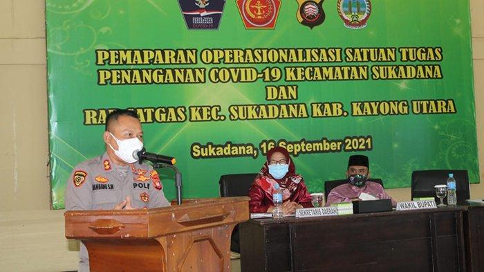 Kapolres KKU Harap Operasionalisasi Satgas Covid-19 Sukadana Jadi Role Model Untuk Kecamatan Lain