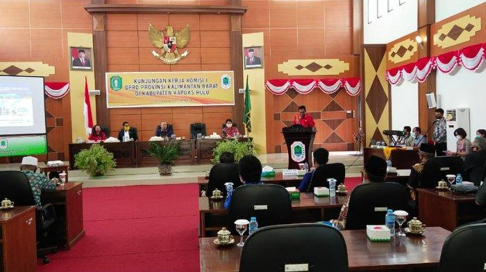 Bupati Paparkan Kondisi Kapuas Hulu ke Komisi I DPRD Kalbar