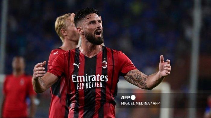 LIVE SCORE Hasil AC MILAN Vs Lazio & Daftar Starting Line Up AC Milan Tanpa Olivier Giroud