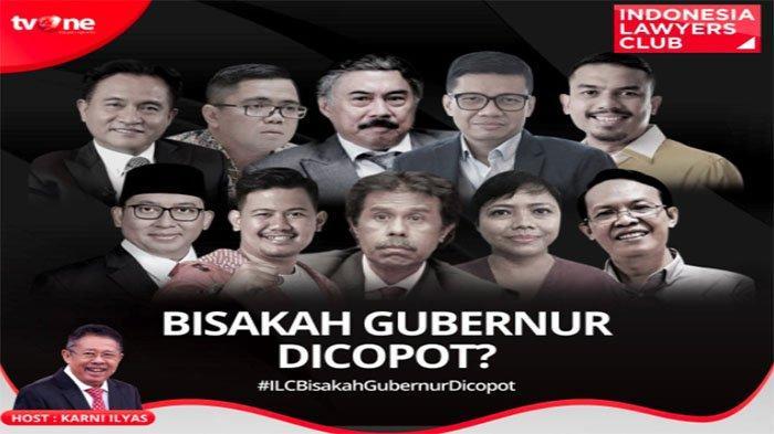 Acara Tv One Hari Ini Live Streaming Tv One Sedang Berlangsung ILC, Fadli Zon Vs Maman Debat Panas