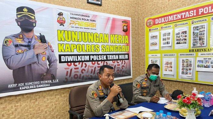Kapolres Sanggau Kunjungan Kerja ke Sejumlah Polsek Jajaran, Ini Pesan Yang Disampaikan