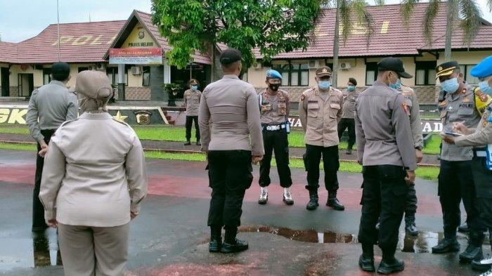 Pimpin Apel Pagi, Wakapolres Melawi Kompol Agus Mulyana Cek Langsung Kehadiran Personel