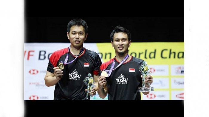 Ahsan/Hendra Jadi Juara BWF Kejuaraan Dunia Bulutangkis 2019 Ganda Putra, Kado Ultah Buat Hendra