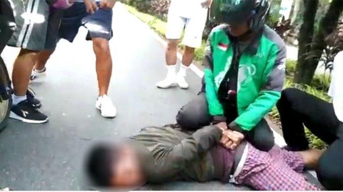 BREAKING NEWS: Driver Ojek Online Ringkus Terduga Pelaku Jambret di Digulis Untan Pontianak